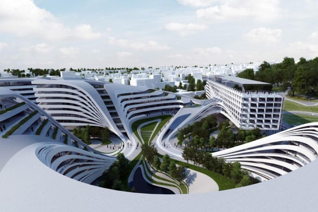 Zaha hadid reconvierte una zona para belgrado for Arquitectura parametrica